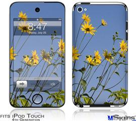 iPod Touch 4G Decal Style Vinyl Skin - Yellow Daisys