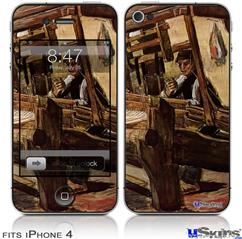 iPhone 4 Decal Style Vinyl Skin - Vincent Van Gogh Weaver2 (DOES NOT fit newer iPhone 4S)