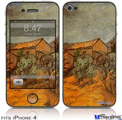 iPhone 4 Decal Style Vinyl Skin - Vincent Van Gogh Wooden Sheds (DOES NOT fit newer iPhone 4S)