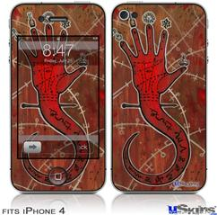 iPhone 4 Decal Style Vinyl Skin - Red Right Hand (DOES NOT fit newer iPhone 4S)