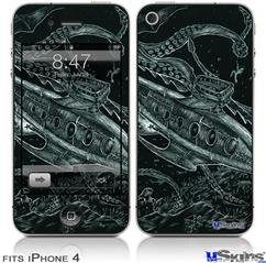 iPhone 4 Decal Style Vinyl Skin - The Nautilus (DOES NOT fit newer iPhone 4S)