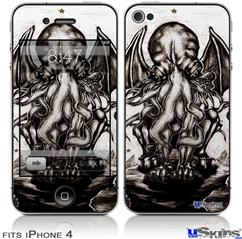 iPhone 4 Decal Style Vinyl Skin - Thulhu (DOES NOT fit newer iPhone 4S)