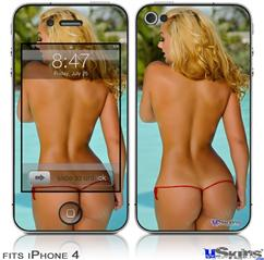 iPhone 4 Decal Style Vinyl Skin - Whitney Jene Harchanko Booty 2 (DOES NOT fit newer iPhone 4S)