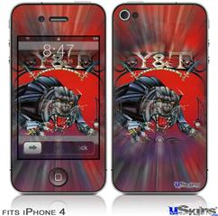 iPhone 4 Decal Style Vinyl Skin - Y&T Black Tiger (DOES NOT fit newer iPhone 4S)