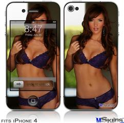iPhone 4 Decal Style Vinyl Skin - Amanda Olson 05 (DOES NOT fit newer iPhone 4S)