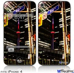 iPhone 4 Decal Style Vinyl Skin - Bay St Toronto (DOES NOT fit newer iPhone 4S)
