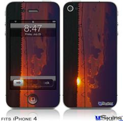 iPhone 4 Decal Style Vinyl Skin - South GA Sunset (DOES NOT fit newer iPhone 4S)