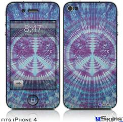 iPhone 4 Decal Style Vinyl Skin - Tie Dye Peace Sign 106 (DOES NOT fit newer iPhone 4S)