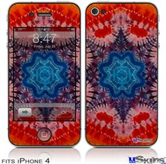 iPhone 4 Decal Style Vinyl Skin - Tie Dye Star 100 (DOES NOT fit newer iPhone 4S)