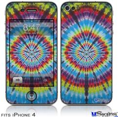 iPhone 4 Decal Style Vinyl Skin - Tie Dye Swirl 100 (DOES NOT fit newer iPhone 4S)
