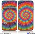 iPhone 4 Decal Style Vinyl Skin - Tie Dye Swirl 102 (DOES NOT fit newer iPhone 4S)