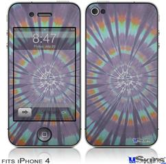 iPhone 4 Decal Style Vinyl Skin - Tie Dye Swirl 103 (DOES NOT fit newer iPhone 4S)
