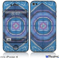 iPhone 4 Decal Style Vinyl Skin - Tie Dye Circles and Squares 100 (DOES NOT fit newer iPhone 4S)