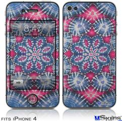 iPhone 4 Decal Style Vinyl Skin - Tie Dye Star 102 (DOES NOT fit newer iPhone 4S)