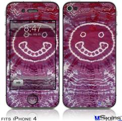 iPhone 4 Decal Style Vinyl Skin - Tie Dye Happy 100 (DOES NOT fit newer iPhone 4S)