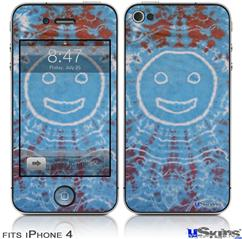 iPhone 4 Decal Style Vinyl Skin - Tie Dye Happy 101 (DOES NOT fit newer iPhone 4S)