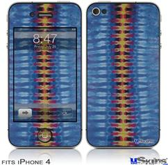 iPhone 4 Decal Style Vinyl Skin - Tie Dye Spine 104 (DOES NOT fit newer iPhone 4S)
