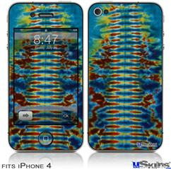 iPhone 4 Decal Style Vinyl Skin - Tie Dye Spine 106 (DOES NOT fit newer iPhone 4S)
