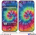 iPhone 4 Decal Style Vinyl Skin - Tie Dye Swirl 104 (DOES NOT fit newer iPhone 4S)