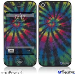 iPhone 4 Decal Style Vinyl Skin - Tie Dye Swirl 105 (DOES NOT fit newer iPhone 4S)