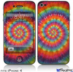 iPhone 4 Decal Style Vinyl Skin - Tie Dye Swirl 107 (DOES NOT fit newer iPhone 4S)