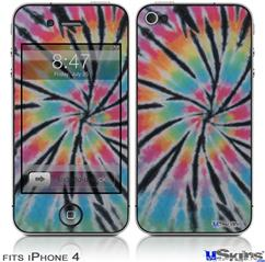 iPhone 4 Decal Style Vinyl Skin - Tie Dye Swirl 109 (DOES NOT fit newer iPhone 4S)