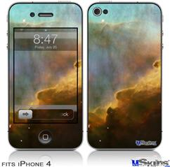 iPhone 4 Decal Style Vinyl Skin - Hubble Images - Gases in the Omega-Swan Nebula (DOES NOT fit newer iPhone 4S)