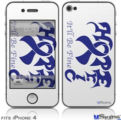 iPhone 4 Decal Style Vinyl Skin - Hope Eric (DOES NOT fit newer iPhone 4S)