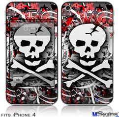 iPhone 4 Decal Style Vinyl Skin - Skull Splatter (DOES NOT fit newer iPhone 4S)