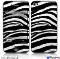 iPhone 4 Decal Style Vinyl Skin - Zebra (DOES NOT fit newer iPhone 4S)