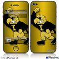 iPhone 4 Decal Style Vinyl Skin - Iowa Hawkeyes Herky on Black and Gold (DOES NOT fit newer iPhone 4S)