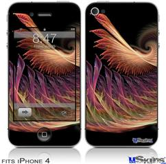 iPhone 4 Decal Style Vinyl Skin - Anemone (DOES NOT fit newer iPhone 4S)