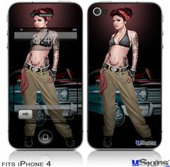 iPhone 4 Decal Style Vinyl Skin - Chola Pin Up Girl (DOES NOT fit newer iPhone 4S)