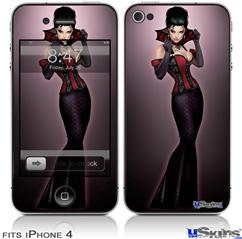 iPhone 4 Decal Style Vinyl Skin - Vamp Glamour Pin Up Girl (DOES NOT fit newer iPhone 4S)
