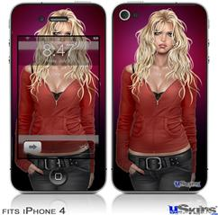 iPhone 4 Decal Style Vinyl Skin - Precious Pin Up Girl (DOES NOT fit newer iPhone 4S)