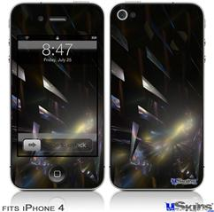 iPhone 4 Decal Style Vinyl Skin - Bang (DOES NOT fit newer iPhone 4S)