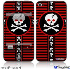 iPhone 4 Decal Style Vinyl Skin - Skull Cross (DOES NOT fit newer iPhone 4S)