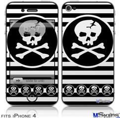 iPhone 4 Decal Style Vinyl Skin - Skull Patch (DOES NOT fit newer iPhone 4S)