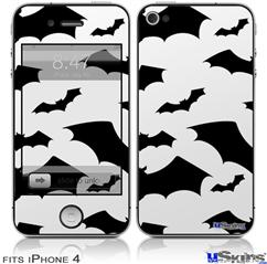 iPhone 4 Decal Style Vinyl Skin - Deathrock Bats (DOES NOT fit newer iPhone 4S)