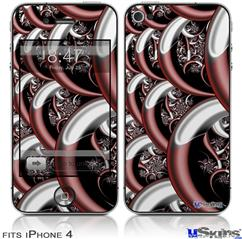 iPhone 4 Decal Style Vinyl Skin - Chainlink (DOES NOT fit newer iPhone 4S)