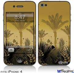 iPhone 4 Decal Style Vinyl Skin - Summer Palm Trees (DOES NOT fit newer iPhone 4S)