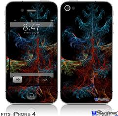 iPhone 4 Decal Style Vinyl Skin - Crystal Tree (DOES NOT fit newer iPhone 4S)