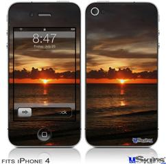 iPhone 4 Decal Style Vinyl Skin - Set Fire To The Sky (DOES NOT fit newer iPhone 4S)