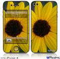 iPhone 4 Decal Style Vinyl Skin - Yellow Daisy (DOES NOT fit newer iPhone 4S)