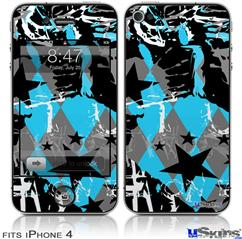 iPhone 4 Decal Style Vinyl Skin - SceneKid Blue (DOES NOT fit newer iPhone 4S)