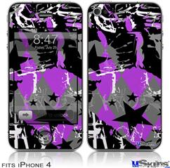 iPhone 4 Decal Style Vinyl Skin - SceneKid Purple (DOES NOT fit newer iPhone 4S)