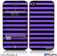 iPhone 4 Decal Style Vinyl Skin - Stripes Purple (DOES NOT fit newer iPhone 4S)