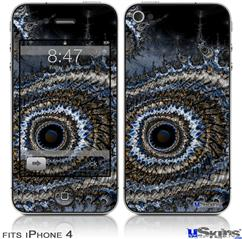 iPhone 4 Decal Style Vinyl Skin - Eye Of The Storm (DOES NOT fit newer iPhone 4S)