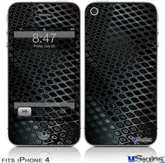 iPhone 4 Decal Style Vinyl Skin - Dark Mesh (DOES NOT fit newer iPhone 4S)