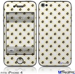 iPhone 4 Decal Style Vinyl Skin - Kearas Daisies Diffuse Glow Yellow (DOES NOT fit newer iPhone 4S)